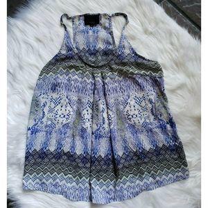 Cynthia Rowley Size M Navy Blue Sleeveless Blouse